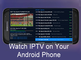 watch iptv on your android phone